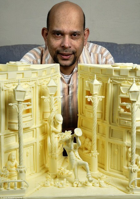 SCULPTURES MADE FROM CHEESE by kurup_man