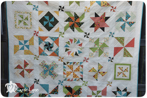 x Quilting on Pinwheel Quilt 2
