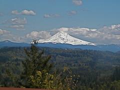 High contrast Mount Hood
