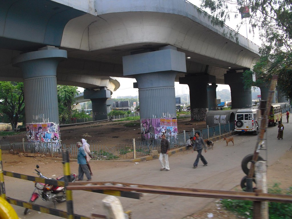 Hebbal terminus at far left end