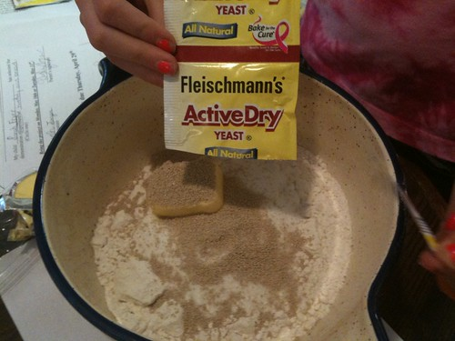Adding the yeast