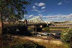 the macomb dam bridge, new york city (mudpig) Tags: nyc newyorkcity bridge cloud newyork flower tree geotagged highway bronx manhattan yankeestadium harlemriver mudpig stevekelley macombdambridge