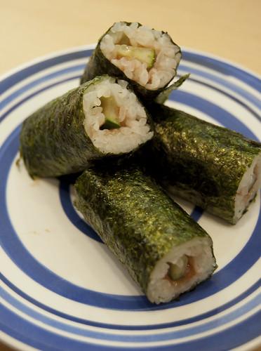 Umeboshi and Cucumber Sushi