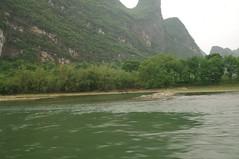 Caoping to Xingping via Li Jiang (River), Guilin, China 2010 (54) (handicoutback) Tags: china mountains bird river li guilin bamboo rafting limestone peaks commorant jiang xingping caoping