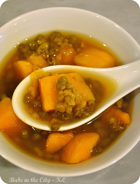 Mung Beans and Sweet Potatoes Soup (Tong Shui)