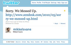 Zendesk CEO Sorry Tweet