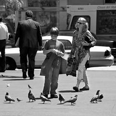 feed the birds (bytegirl24) Tags: nyc newyorkcity boy birds manhattan pigeons rockefellercenter feedthebirds