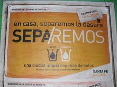 Separemos en Santa Fe (sfecristian) Tags: santafe basura campaa actitud santafeciudad gobiernoprovincial