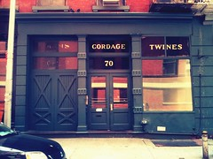Ancient little shop next to my office building (meredithmo) Tags: newyorkcity phonecam tribeca yarns cordage twines