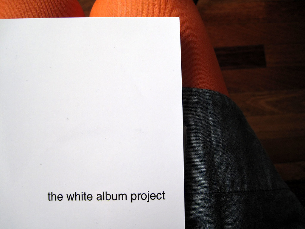 white album:  cover