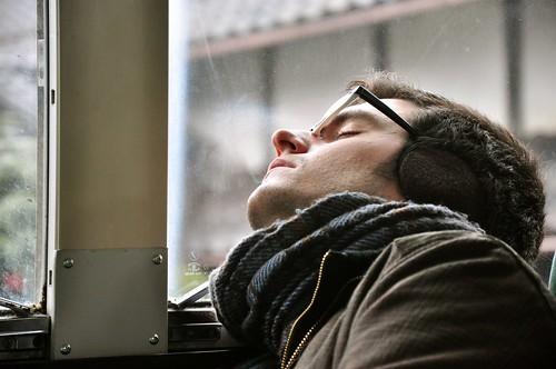 Durmiendo en el autobús
