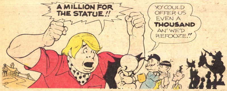 Li'l Abner Sunday Strip, 1974, detail