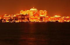 The Palace (Tarek S.) Tags: city light sea water architecture night landscape hotel uae abudhabi flickraward
