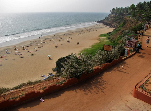 Varkala Beach View From Cliff