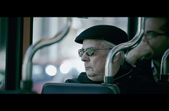 The Passenger (James Yeung) Tags: street man candid zurich tram cinematic ef70200mmf4lisusm
