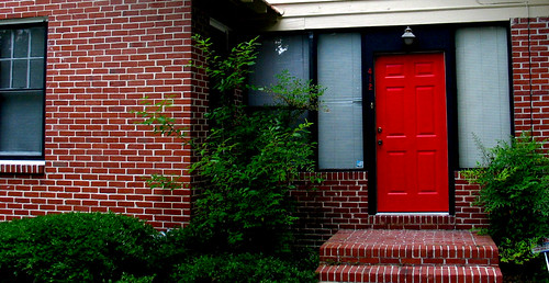 House Front Door Red Brick Windows Collierville
