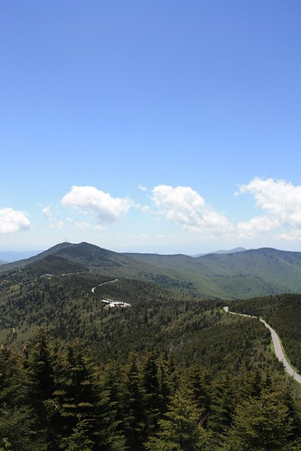 The road to Mt. Mitchell