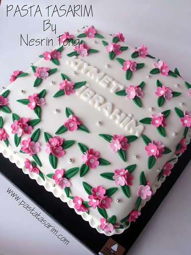 FLOWERS WEDDING CAKE - KIYMET & IBRAHIM