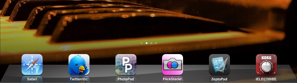 6 icon on iPad dock