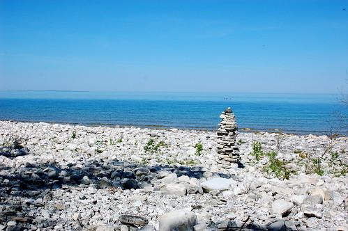 Cairn on the beach