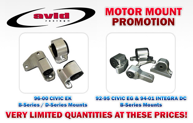 Avid Racing Motor Mounts