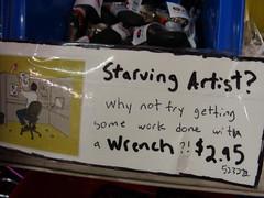 Starving artist?