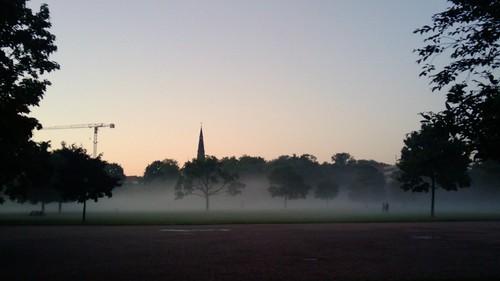 Alaunplatz im Nebel Danke an F. Jäger