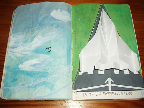 Wreck This Journal: Make A Paper Air Plane.