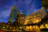 Night sky at Raffles in Singapore (MDSimages.com) Tags: world travel sky history texture architecture digital skyscraper photography hotel design blog nikon singapore media asia nightshot colonial victorian entrance historic textures processing southeast orient hdr highdynamicrange raffles travelphotography raffleshotel photomatix republicofsingapore hdrsky malaypeninsula raffes michaelsteighner mdsimages hyliteproductions photomike07 raffies mdsimagescom hylitecom thaimalay semenanjungtanahmelayu คาบสมุทรมลายู
