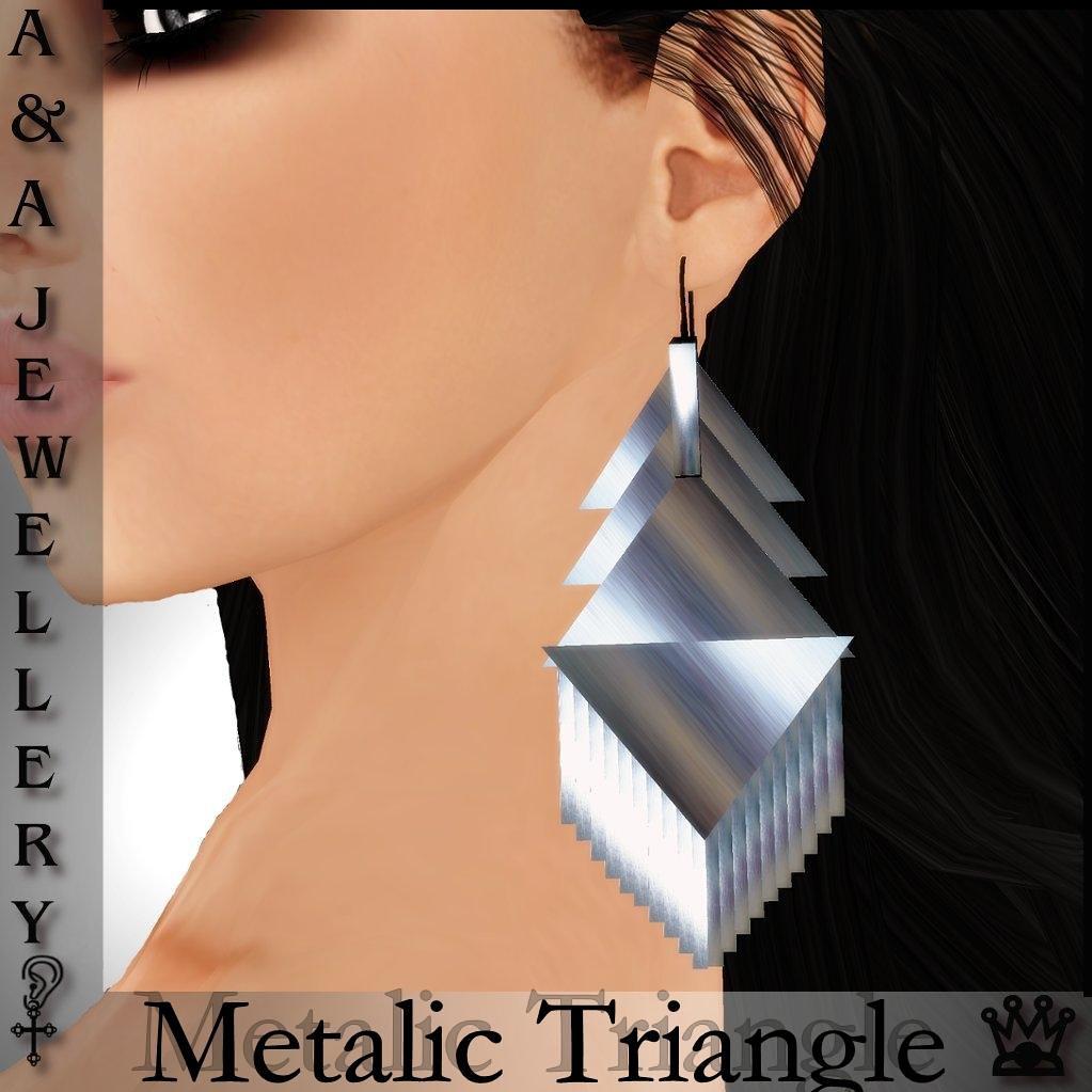 A&A Jewellery Metalic Triangle