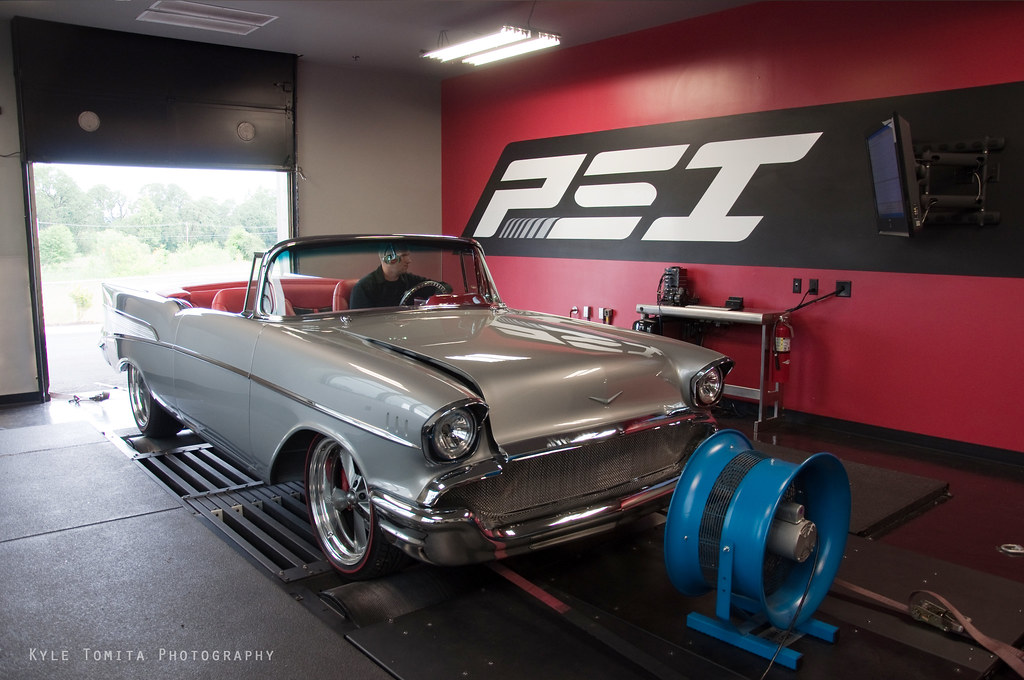 57 Chevy Bel Air SS on dyno at PSI 5