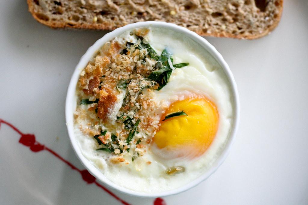 Zucchini Blossom & Mozzarella Baked Eggs