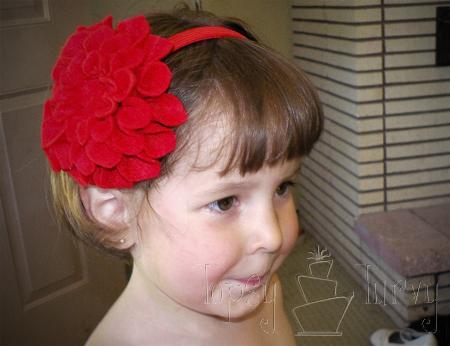 felt flower headband child