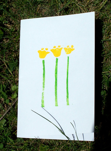 Buttercup Flower Hand Printed Card