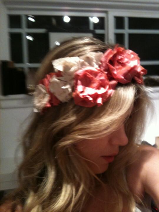 rose necklace diy headband