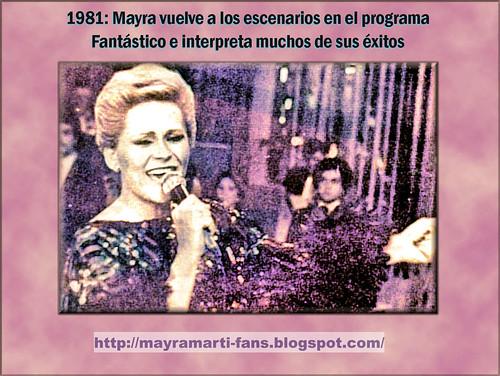 Mayra en Fantástico RCTV, 1981