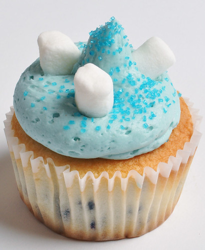 Blueberry Smurf Cupcake