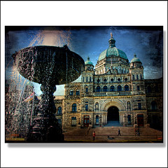 B.C Parliament (ZedZap Photos) Tags: city travel canada tourism fountain landscape bc canadian vancouverisland legislature hdr rattenbury victoriabc nationalgeographic zedzap