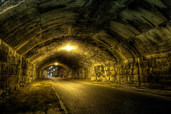 Creepy Tunnel in Philly (Barry J. Schwartz) Tags: urban philadelphia canon tunnel philly 16mm hdr highdynamicrange 1635 photomatix 1635l highdynamicrangeimage ef1635mmf28liiusm 1635lii 1635ii 1635l2 barryjschwartzcom canoneos1dmarkiv 1dmkiv 1dmk4 1635lversion2