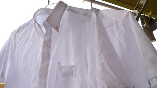 ワイシャツを洗濯