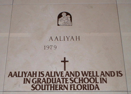 Aaliyah is Alive And Well and is in Graduate School in Southern Florida