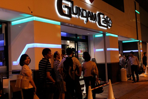 Me Lining Up at Gundam Cafe