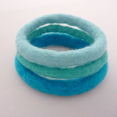 Cool Water felted bangles