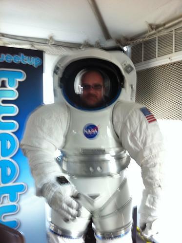 Shaan in Spacesuit