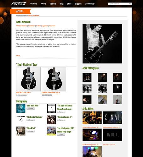Gretsch Web Site