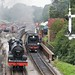 53809 and 34070 arrive at Goathland with the Pines Express