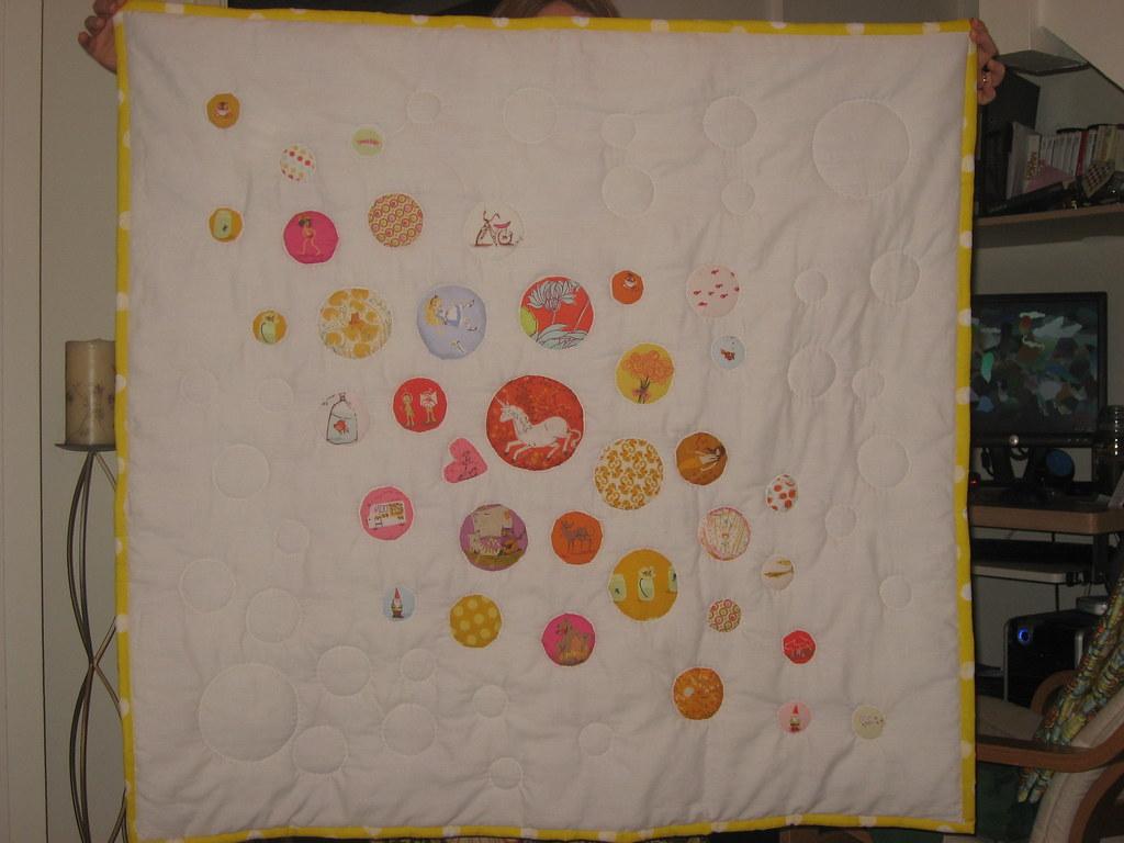 Sarah's baby quilt.