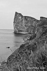 Retiens-moi (Sous l'Oeil de Sylvie) Tags: voyage summer blackandwhite roc noiretblanc falaise rocher escapade gaspésie k7 percé été2010