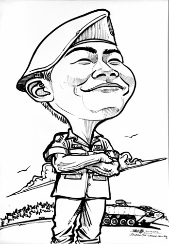 Caricature for Singapore Armed Forces 221010