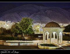 Said bin Taimur Mosque - The Backyard at Night (al-Jazmi) Tags: mountain rooftop architecture canon rebel purple muslim islam religion mosque said muscat masjid x4 mideast islamic lightroom         taimur     550d  ghaleb masgid   masqat jazmi     rebelt2i aljazmi